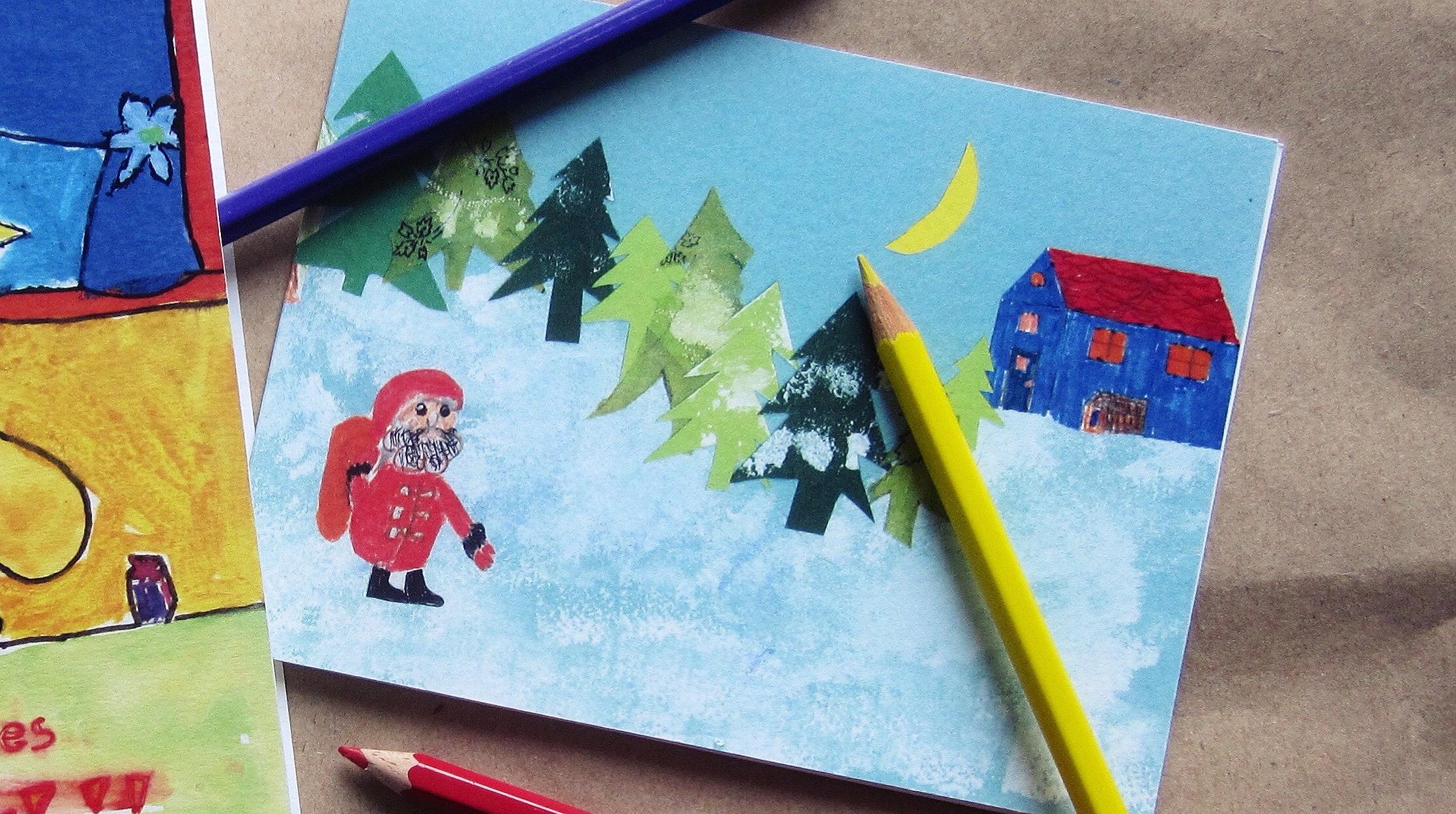 Weihnachtskarten Mit Gutem Zweck.Schüler Gestalten Weihnachtskarten Für Guten Zweck Deutsche Schule