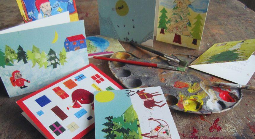 Schüler Gestalten Weihnachtskarten Für Guten Zweck