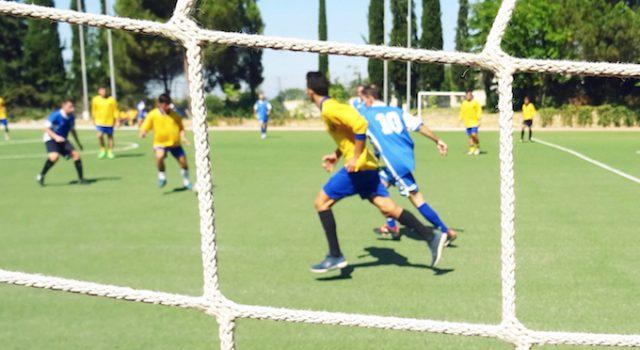 Fußballspiel Schüler Gegen Lehrer