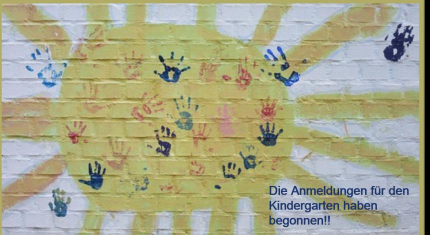Anmeldung Für Unseren Kindergarten!