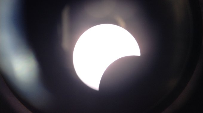 Partielle Sonnenfinsternis Vom Balkon Der DST