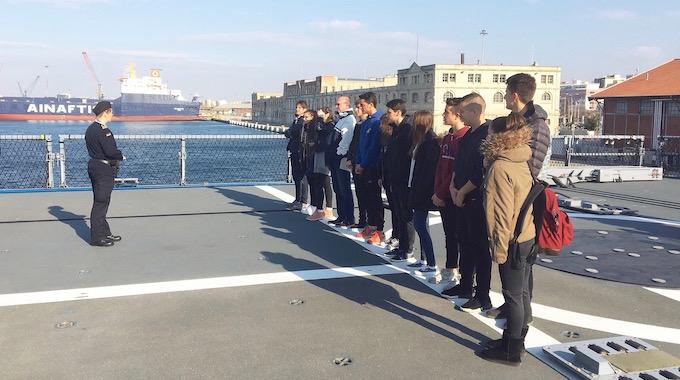 Auf der Fregatte Sachsen