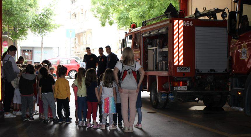 Τα Νήπια επισκέφτηκαν την Πυροσβεστική Υπηρεσία